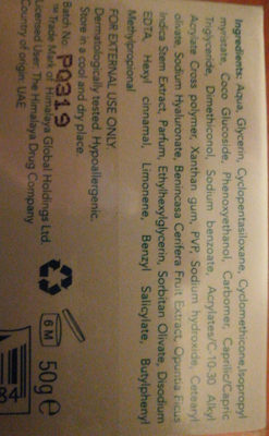 light hydrating gel cream - Ingredients - en