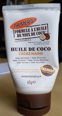 Huile de coco - crème mains - Produit