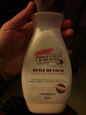 Huile de coco. Lait hydratant corps. - Produit - fr
