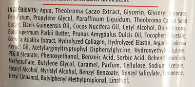 Lotion de massage Anti Vergertures - Ingredients - fr