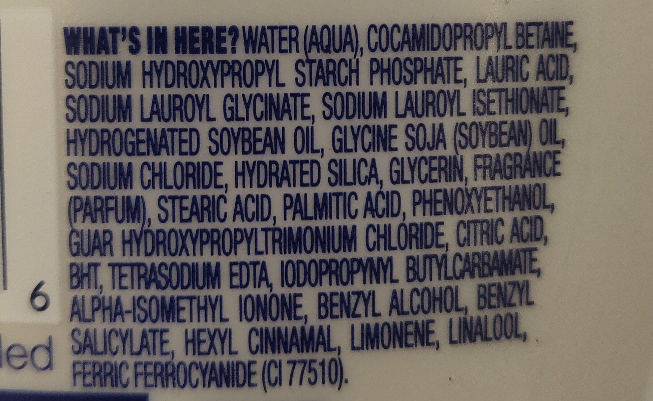 body wash - Ingredients - en