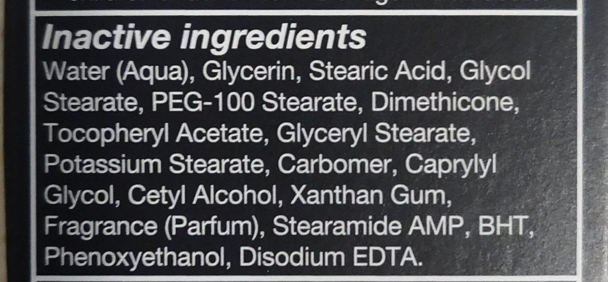 dove face lotion - Ingredients - en