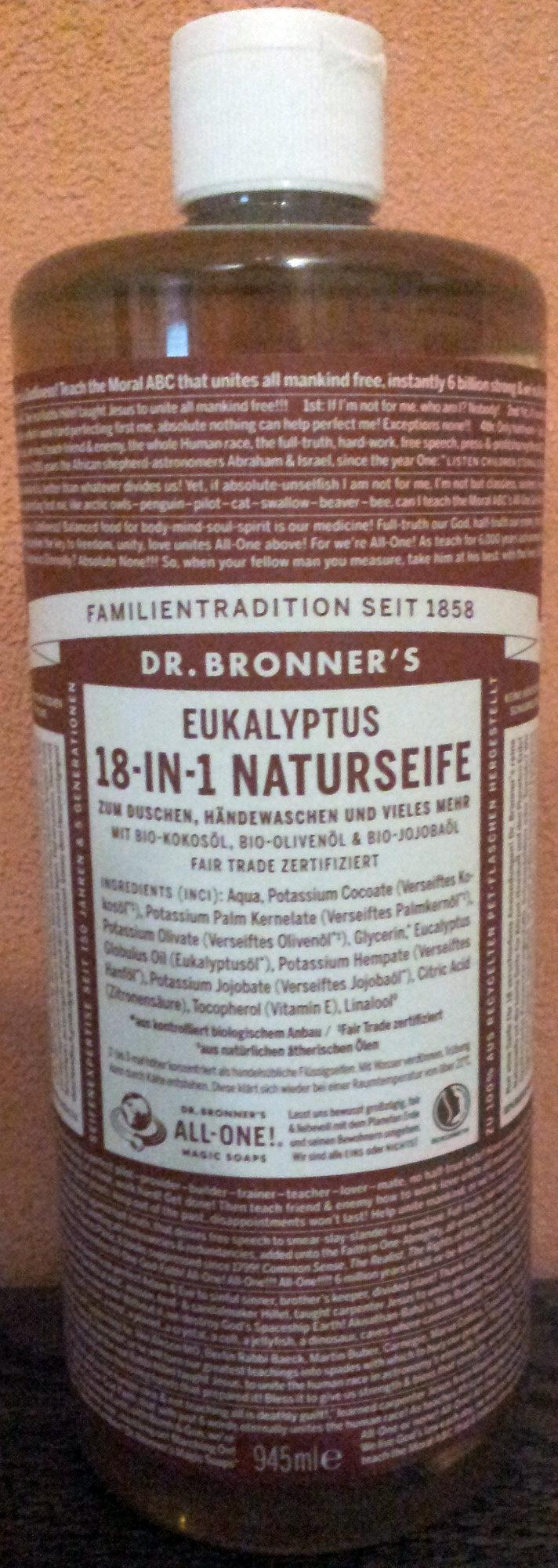 Dr. Bronner's 18-IN-1 Naturseife Eukalyptus - Product