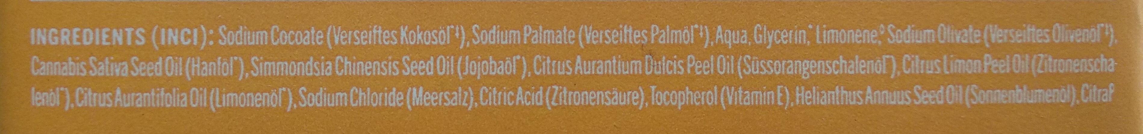 All-One Zitrus-Orange Reine Naturseife - Ingredients - de