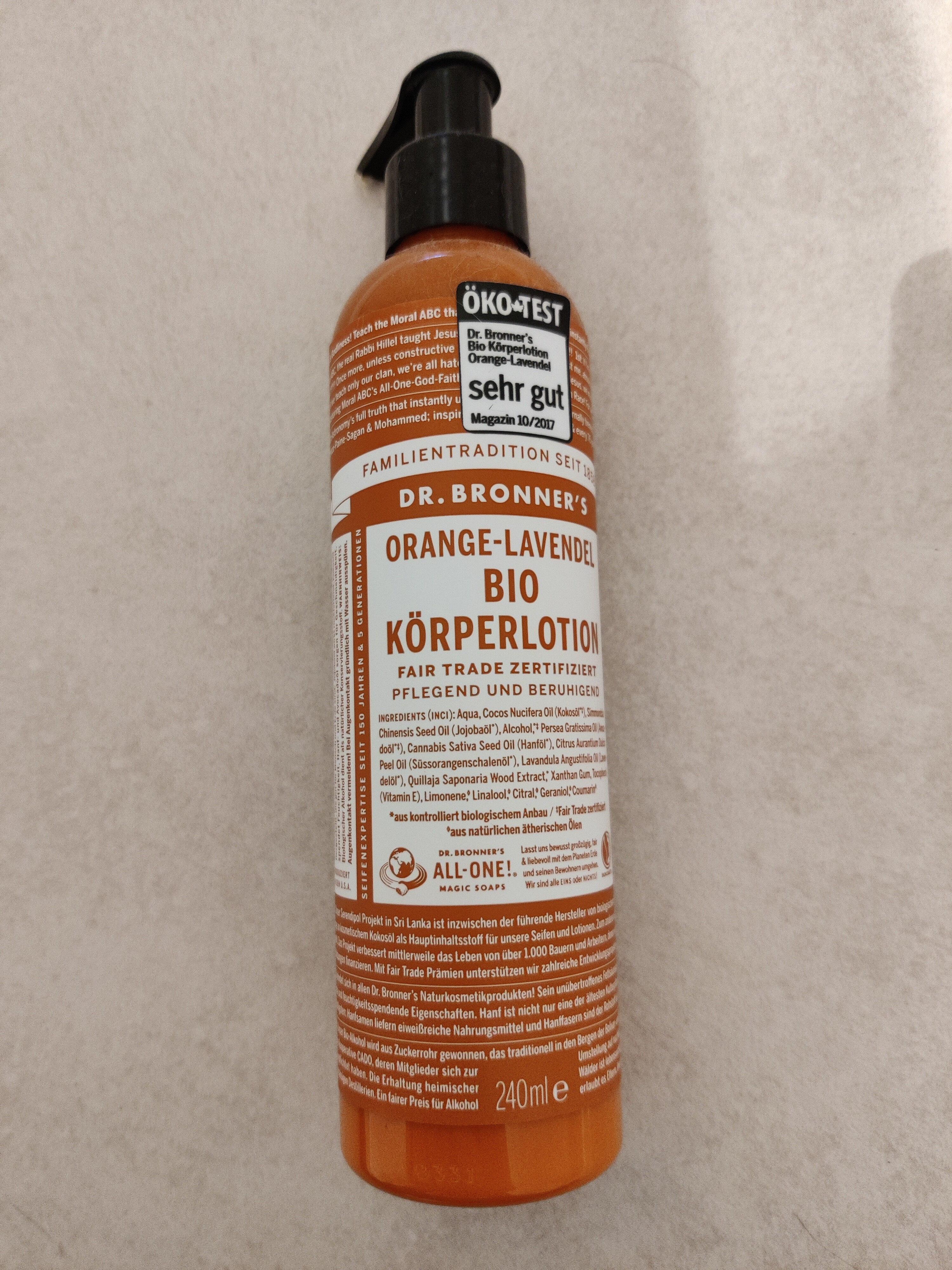 Orange-Lavendel Bio Körperlotion - Produit - en