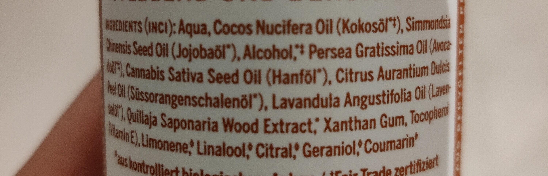 Orange-Lavendel Bio Körperlotion - Ingrédients - en