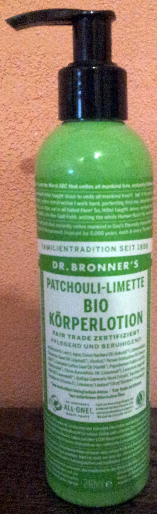 Dr. Bronner's Bio Körperlotion Patchouli-Limette - Product - de