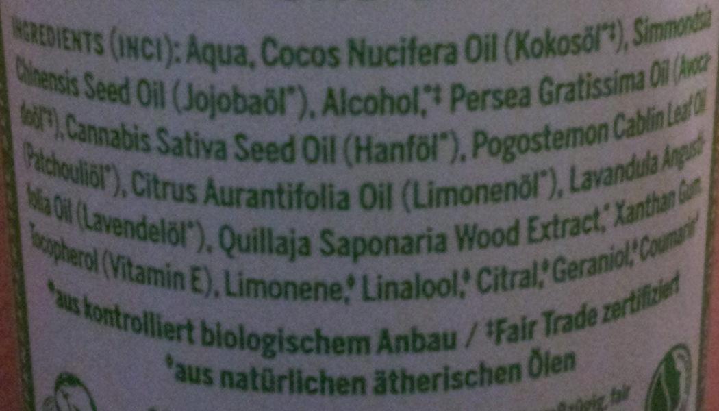 Dr. Bronner's Bio Körperlotion Patchouli-Limette - Ingredients - de