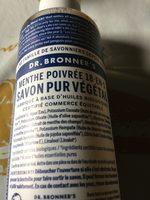 Savon Liquide Bio à La Menthe - Dr Bronner - Ingredients
