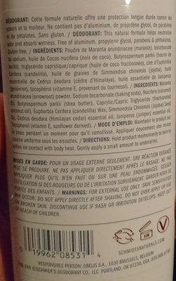 Beauté & Hygiène / Soins Du Corps / Déodorants - Ingredients