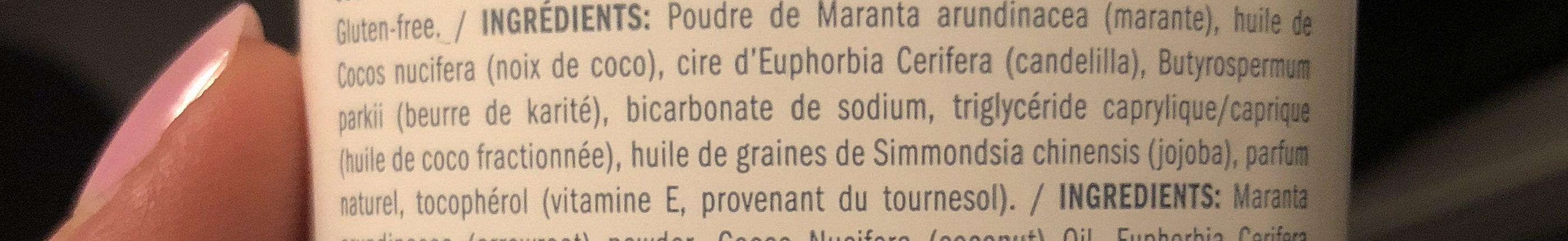 Beauté & Hygiène / Soins Du Corps / Déodorants - Ingredients - fr