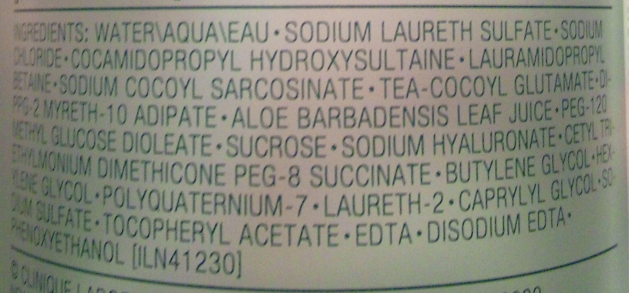 Savon visage liquide doux - Ingredients - fr