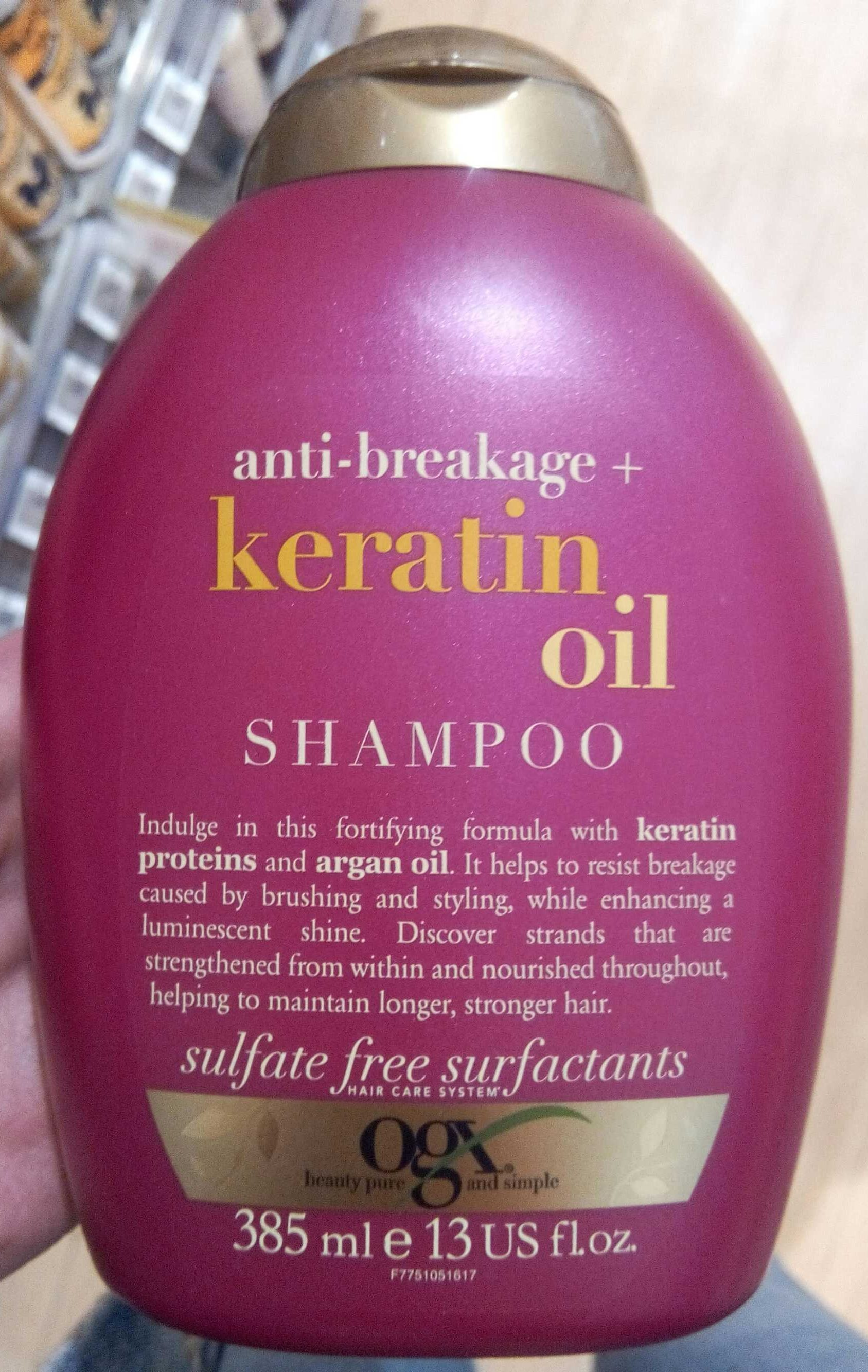 Keratin oil shampoo - Product - fr
