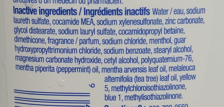 Head&Shoulders - Ingredients - fr
