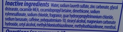 head and shoulder's shampoo - Ingredients
