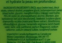 body lotion - Ingredients - en