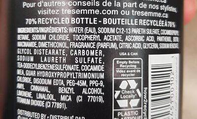 Tresemme Shampoo - Ingredients - en