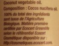 Huile végétale coco - Ingredients - fr