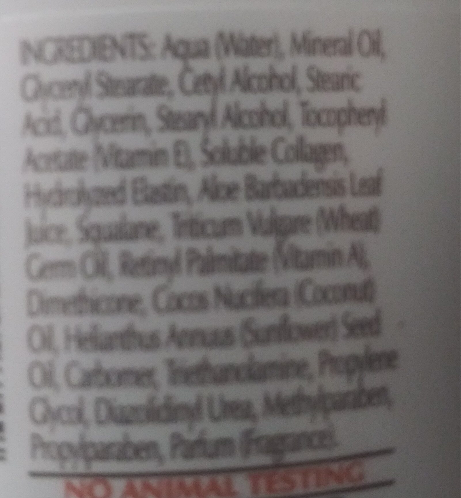 Vitamin E skin care cream - Ingredients - en