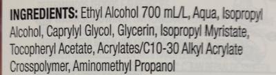 Advanced Gel hydro-alcoolique pour les mains - Ingrédients