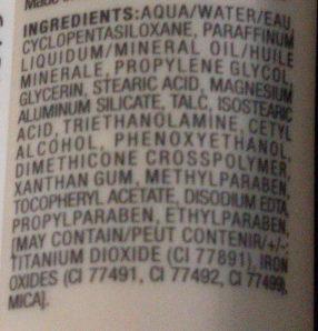 BB Crème 01 Light - Ingredients