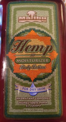 malibu tan hemp moisturizer - Product - en