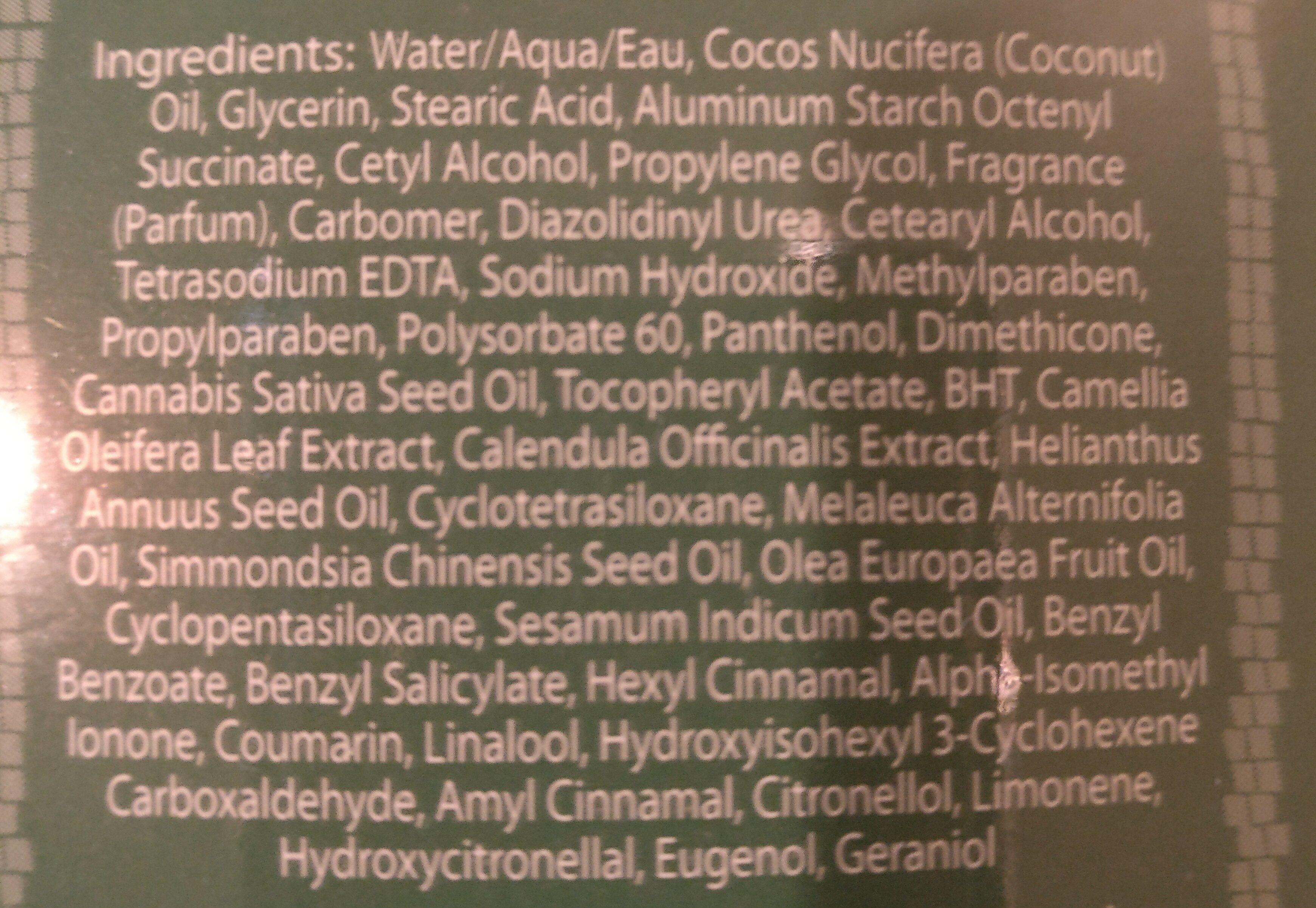malibu tan hemp moisturizer - Ingredients - en