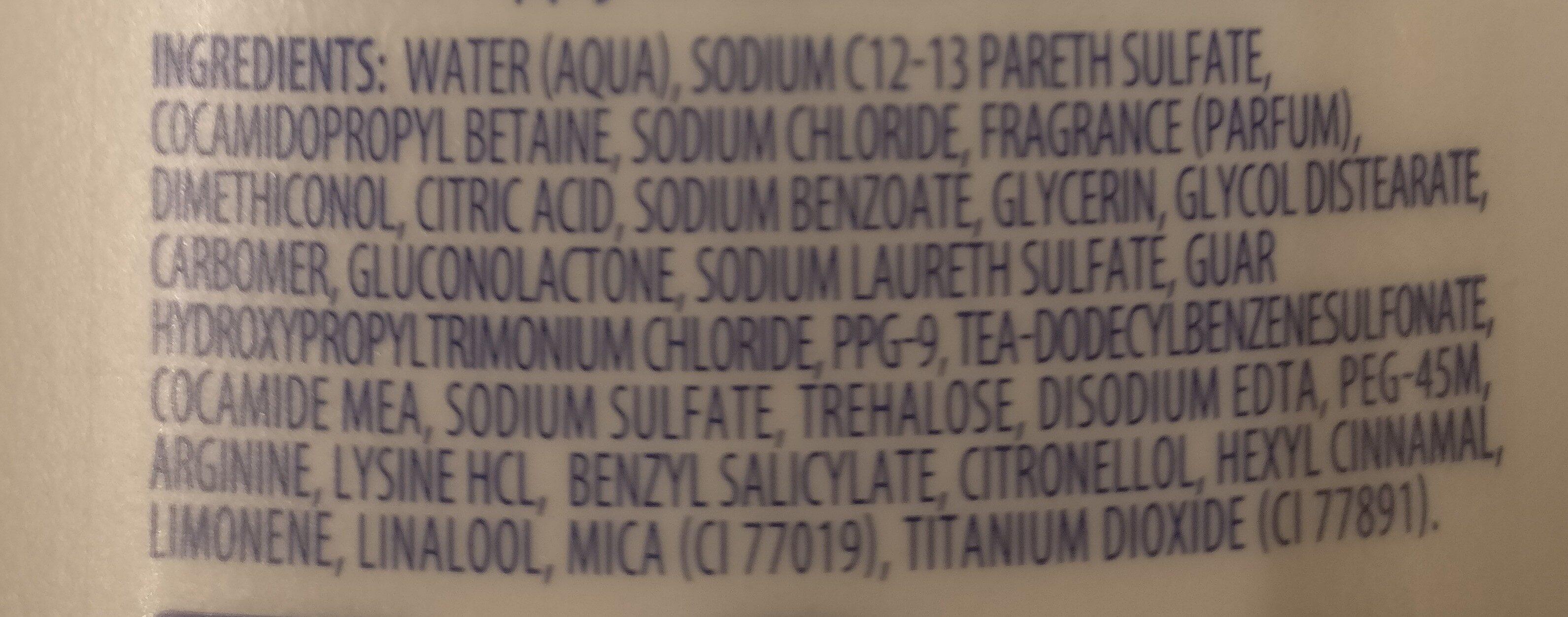 dove daily moisture shampoo - Ingredients - en