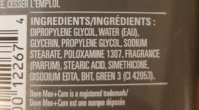 Deodorant Clean Comfort - Ingrédients - en