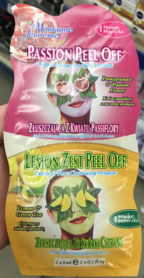 Passion peel off + lemon zest peel off - Product