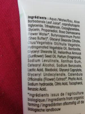 Hydra aloe vera - Ingredients