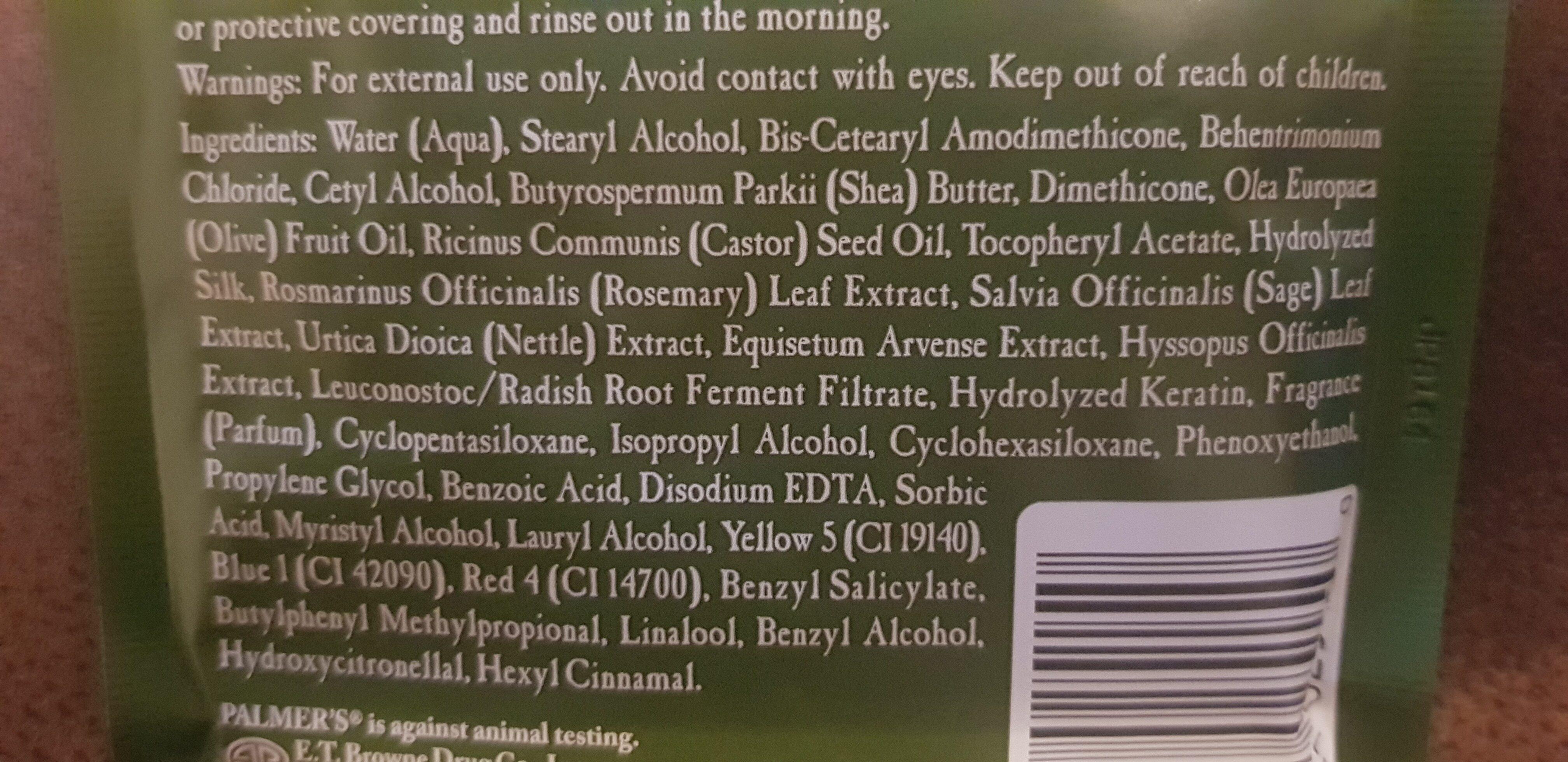 Palmer's Olive Oil Formula Deep Conditioner - Ingrédients - en