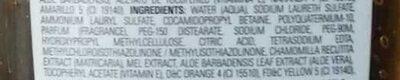 Shampoo extracto de miel & manzanilla - Ingredients - es