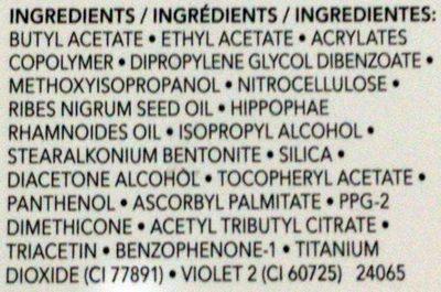 Quick Dry Base Coat - Ingredients