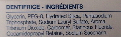 Sensodyne Sensibilité & Gencives - Ingredients - fr