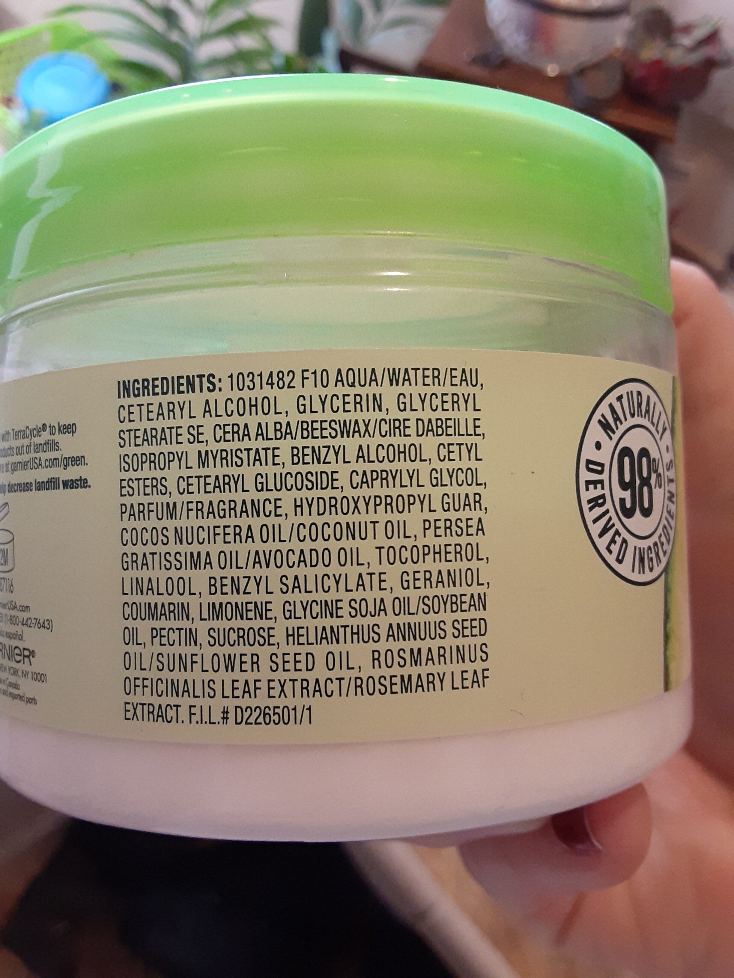 garnier curl treat - Ingredients - en