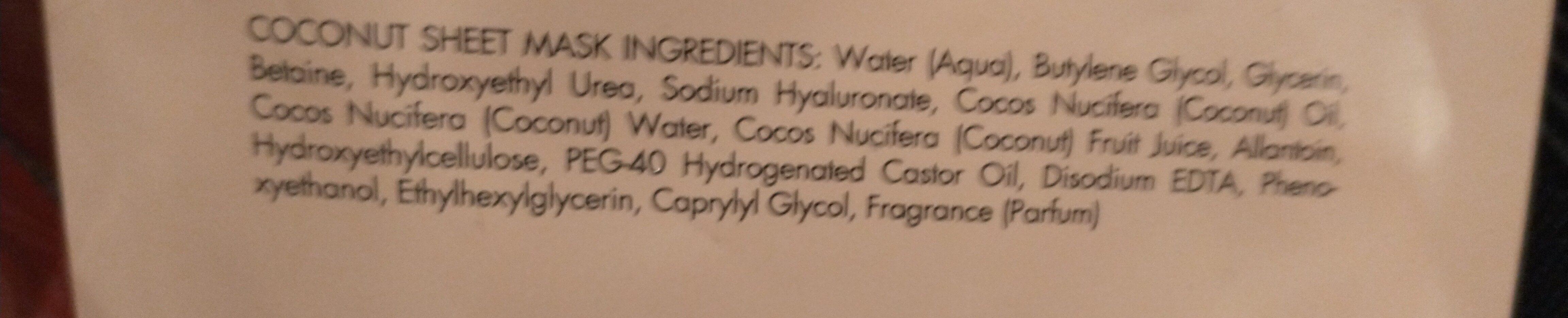 coconut - Ingredients - en