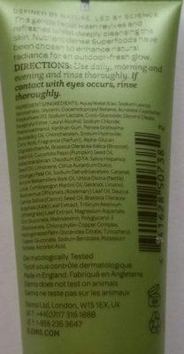 superfood facial wash - Ingredients - de
