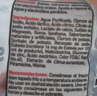 Suerox Rehidratante de Fresa - Ingredients - en