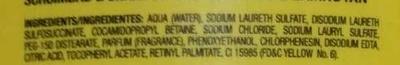 Shower gel & shampoo 2 en 1 - Ingredients