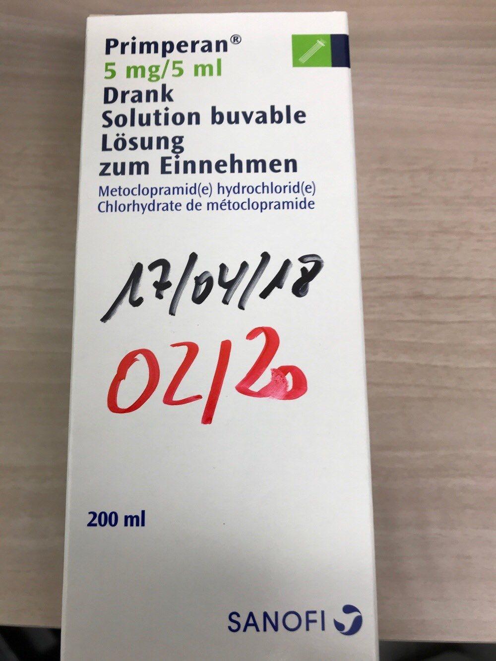 Primperan 5mg/5ml - Produit - fr