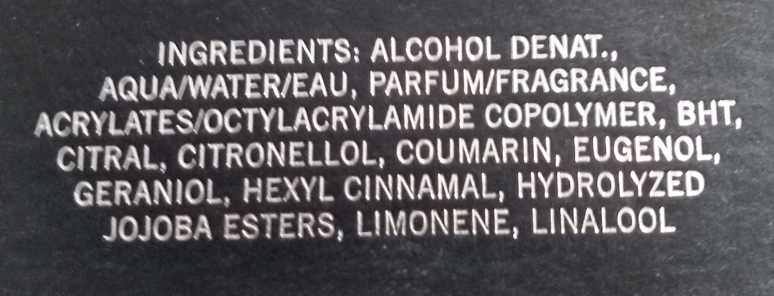 1881 Black - Ingredients - fr