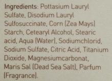 Ahava savon hydratant aux sels - Ingrédients