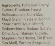 Ahava savon purifiant à la boue - Ingredients