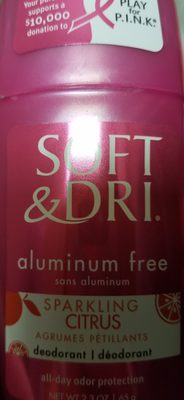 soft & dri deodorant - Product