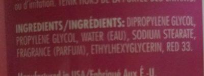 soft & dri deodorant - Ingredients - en