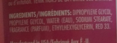 soft & dri deodorant - Ingredients