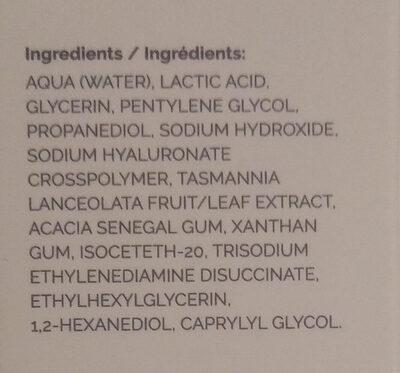 Lactic Acid 10% + HA - Ingredients