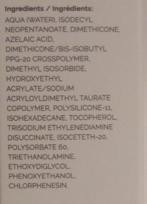 Azelaic Acid Suspension 10% - Ingredients - en