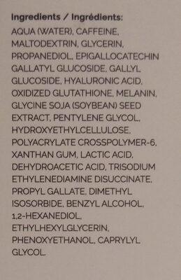 Caffeine Solution 5% + EGCG - Ingredients - en